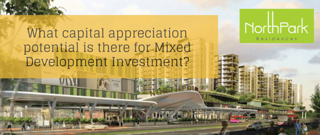What capital appreciation potential is there for mixed development investment?