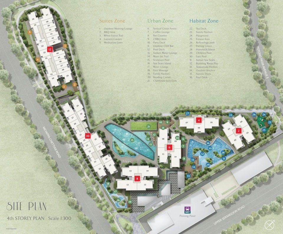 The Poiz Residences - Site Layout