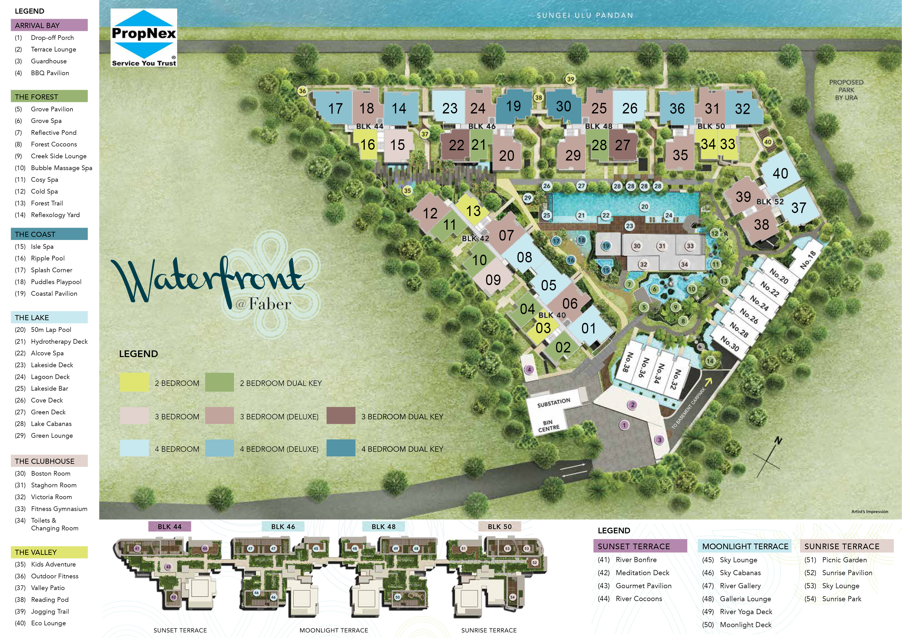 Waterfront at Faber - Site Layout