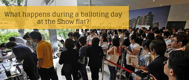 What happens during a balloting day at the show flat?